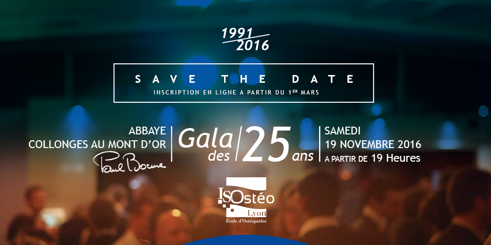 Gala des 25 ans Save the Date !