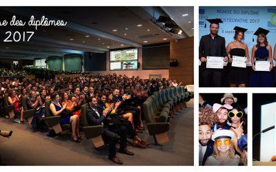 Cérémonie de remise des diplômes promotion 2017