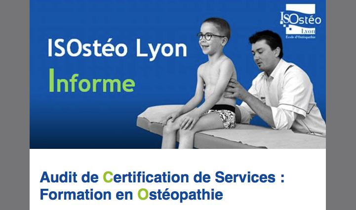 Audit de Certification de Services : Formation en Ostéopathie