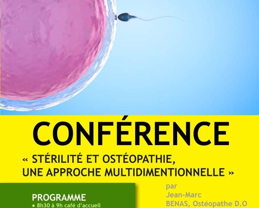 Conférence « Stérilité et ostéopathie, une approche multidimentionnelle »