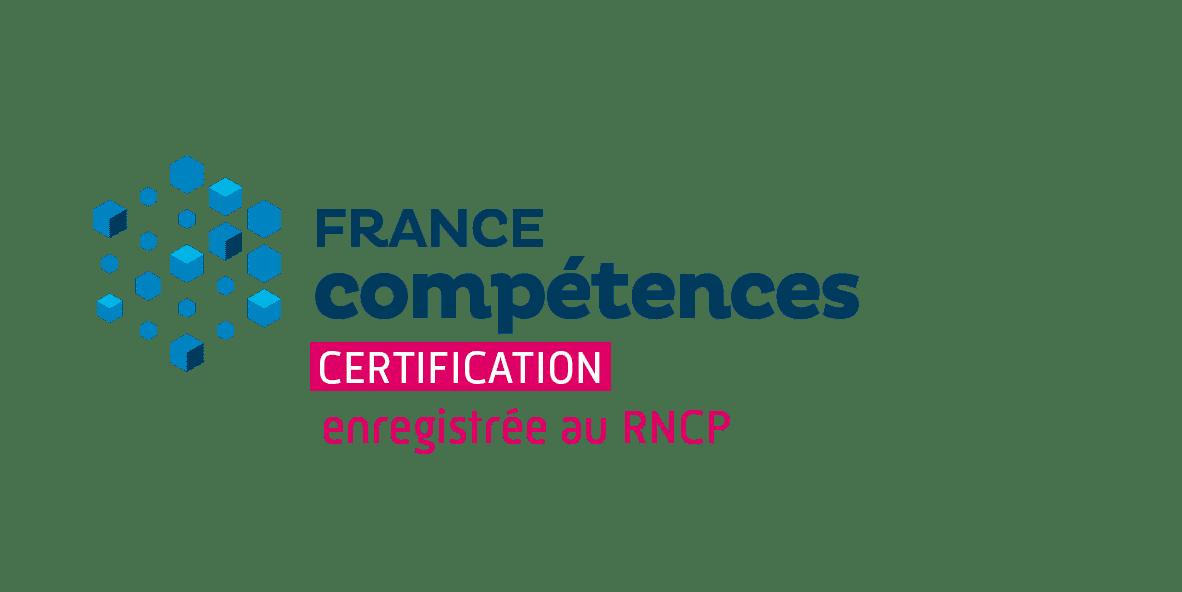 Logo France Compétences certification enregistrée au RNCP, qui atteste de la qualité des formations d'ISOstéo Lyon