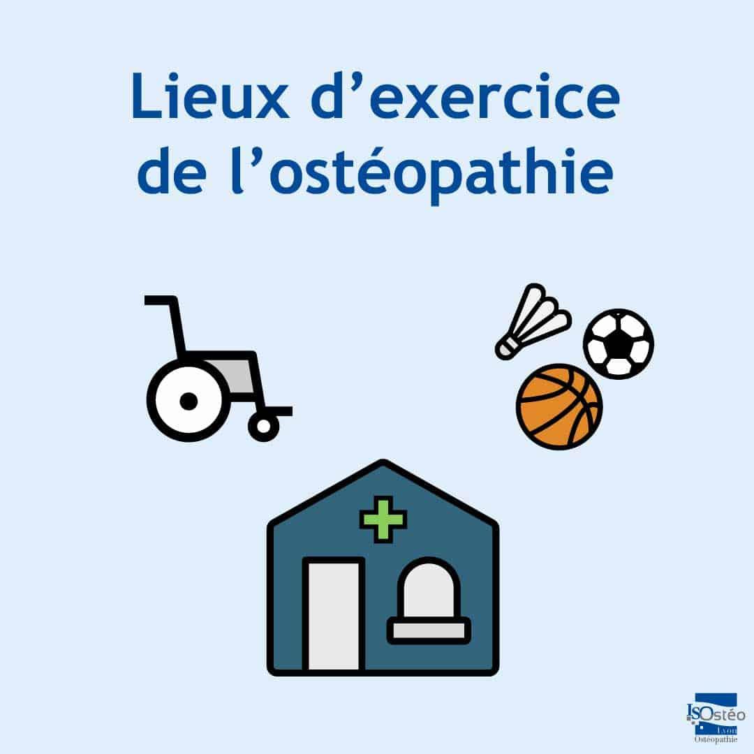 Lieux d'exercice de l'ostéopathie