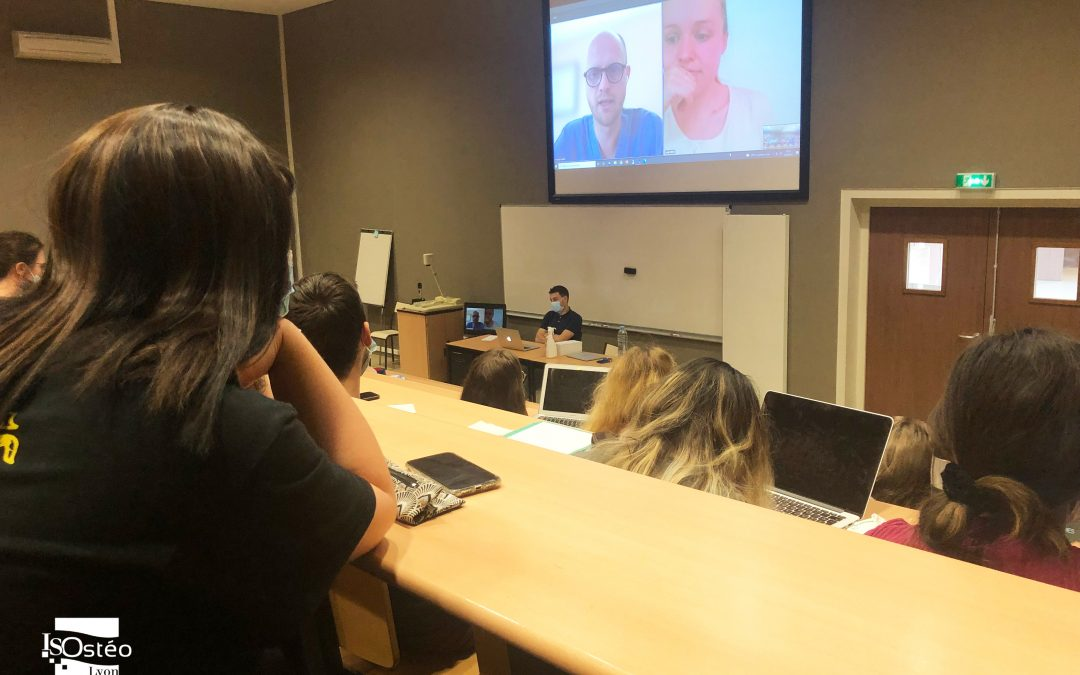 Présentation des syndicats pour ostéopathes aux 5e année ISOstéo Lyon