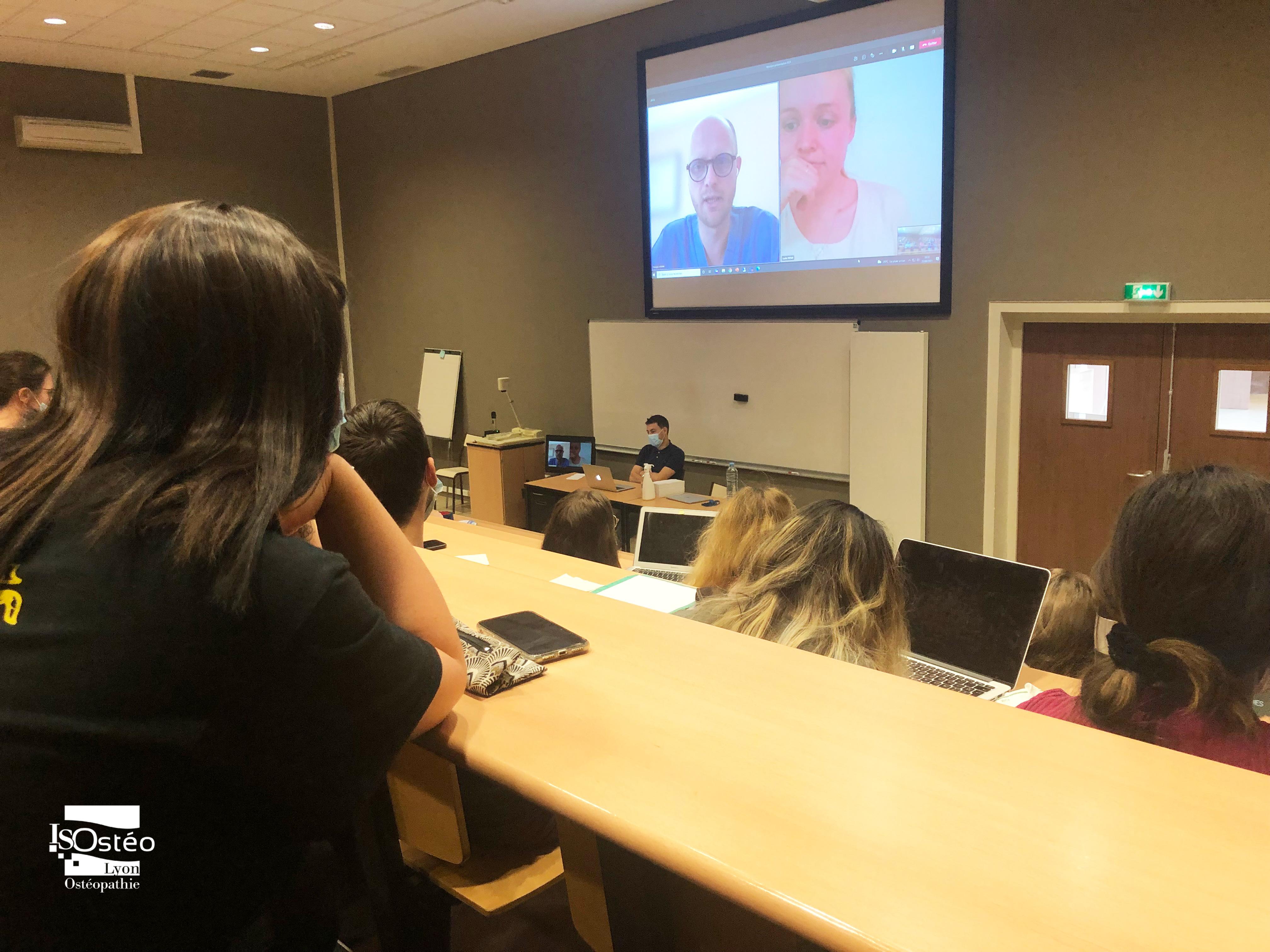 présentation des syndicats pour ostéopathes aux étudiants de 5e année, futur·e·s diplômé·e·s