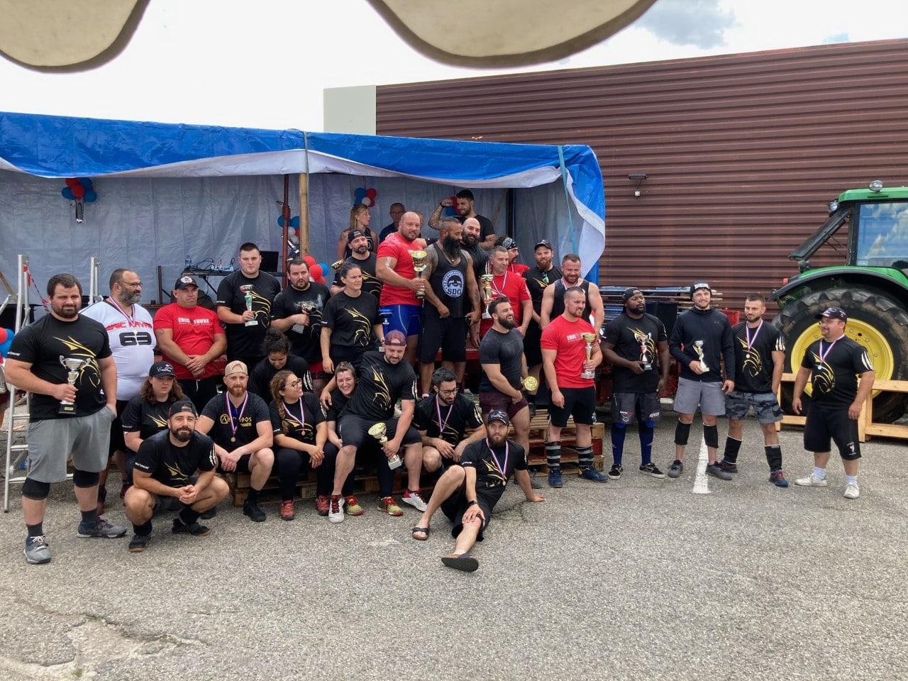 51 athlètes de STROGMAN réunis lors du Championnat de France et du stage sportif ISOstéo Lyon