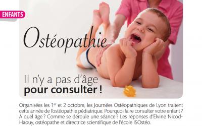 Le magazine Ma Santé Rhône-Alpes parle d'ISOstéo Lyon !